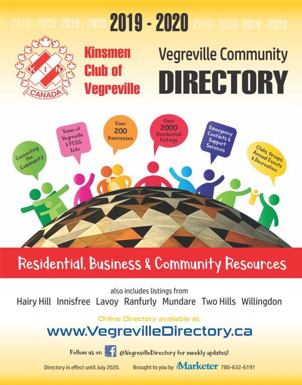 2019-2020 Vegreville Directory cover